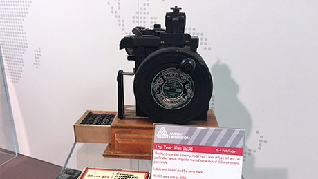 A hi-speed, pin-on marking machine