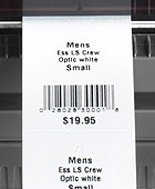 Monarch 9416 XL Thermal Direct Printer Barcode Labels Closeup
